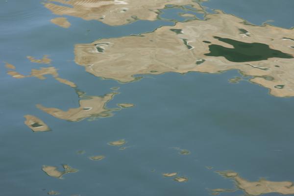 Venetien, Venedig, Arsenale, Reflektionen, Wasser, Wasseroberfläche, Flecken, abstrakt,